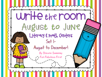 Write the Room August to June- Set 1 August through December