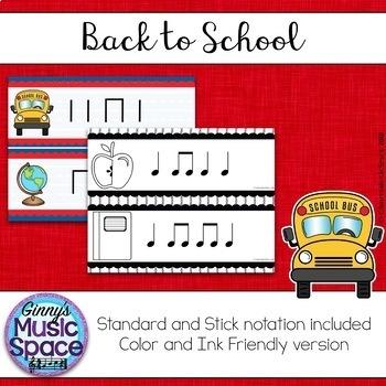 Back to School Rhythm Write the Room BUNDLE Kodaly