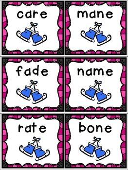 Write the Room BUNDLE - Ice Skate themed cvc, cvvc, and cvce words.