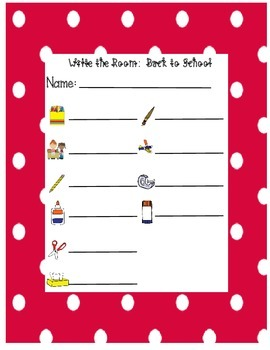 Write the Room- Back to School