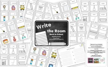 Write the Room: Back to School (Beginning Sounds)