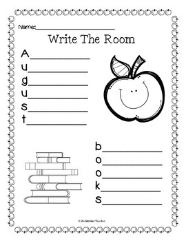 Back to School Writing Center - Write the Room