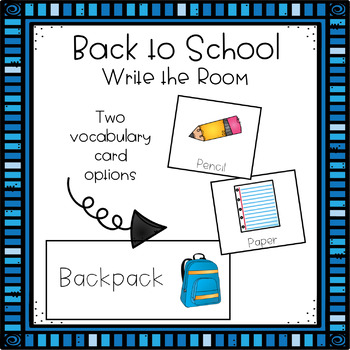 Write the Room - Back to School