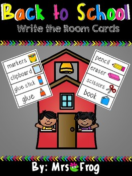Write the Room: Back to School
