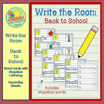 Write the Room - Back to School Freebie