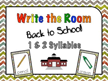 Write the Room Back to School Syllables