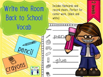 Write the Room - Back to School Vocab