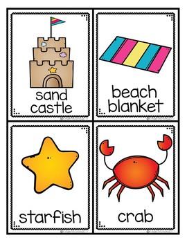 Write the Room - Beach Theme Words - FREEBIE