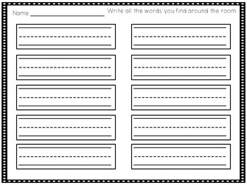 Write the Room - Beginning Digraphs
