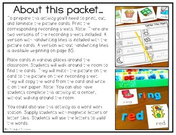 Write the Room Beginning Sounds