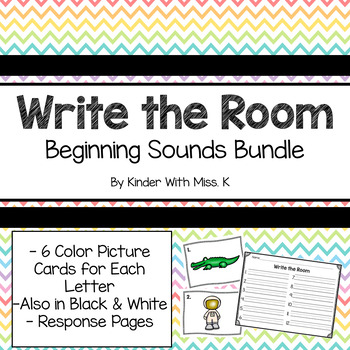 Write the Room- Beginning Sounds Bundle