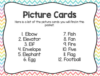 Write the Room: Beginning Sounds- E and F
