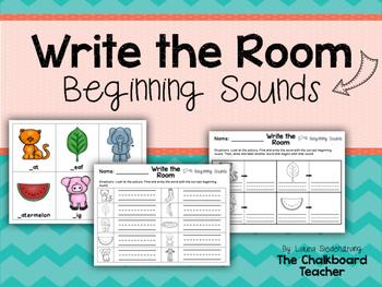 Write the Room Beginning Sounds FREEBIE