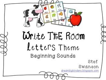 Write the Room Beginning Sounds {Letters Theme}