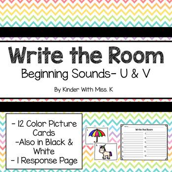 Write the Room: Beginning Sounds- U & V