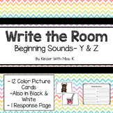 Write the Room: Beginning Sounds- Y & Z