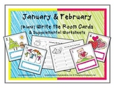 Write the Room - Blank Cards for January & February