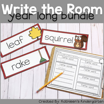 Year Round Write the Room Bundle