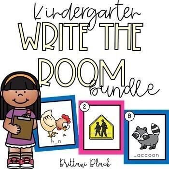 Kindergarten Write the Room Bundle