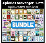 Alphabet: Write The Room Alphabet Scavenger Hunt BUNDLE