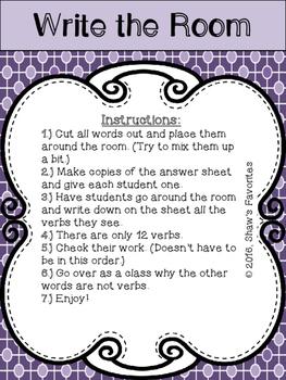 Write the Room Bundle {Parts of Speech}