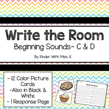 Write the Room: Beginning Sounds- C and D