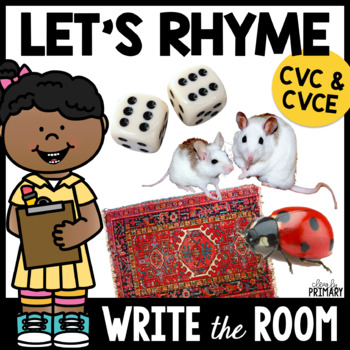 Write the Room: CVC & CVCE Rhyming Words