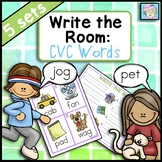 CVC Words Centers Write the Room