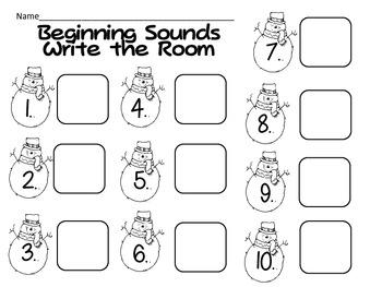 Write the Room- CVC Words {winter themed}