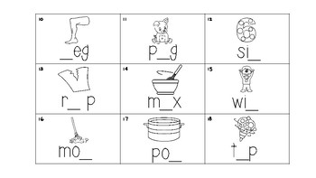 Write the Room - CVC Words with missing letters