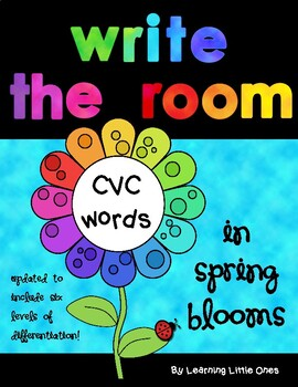 Write the Room *CVC words in Spring Blooms*