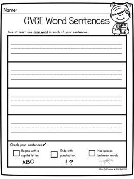 Write the Room: CVCE Words