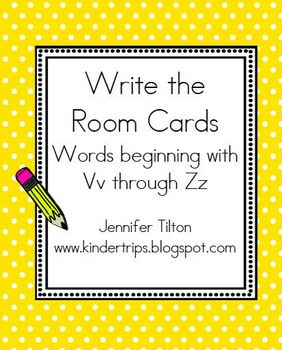 Write the Room Cards Aa-Zz Bundle with display cards