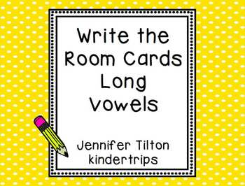 Write the Room Cards for Long Vowels