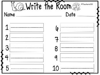 Write the Room Center {April}