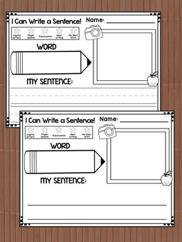 Write the Room Center : Back to School, Cards, Flashcards, Response Pages