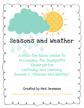 Write the Room Center: EngageNY Seasons and Weather Domain