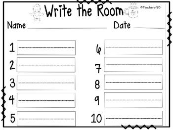 Write the Room Center {January}