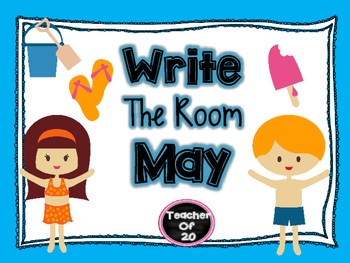 Spring Write the Room Center {May End of Year Activity}