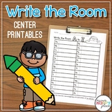 Write the Room Center Printables