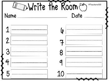 Write the Room Center {September}