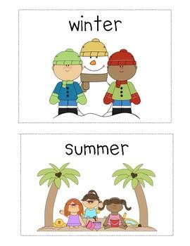 Write the Room Center for Journeys Kindergarten ELA Series, Lesson 11: Seasons