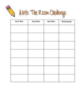 Write the Room Challenge