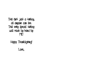 Thanksgiving Placemat Poem
