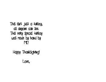 Thanksgiving Placemat Poem
