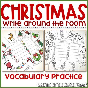 Write the Room Christmas Icon Vocabulary