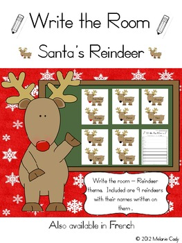 Write the Room -- Christmas Reindeer Names
