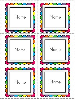 Write the Room: Class Names {Editable}