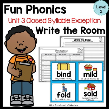 Write the Room Closed Syllable Exceptions Level 2 Unit 3