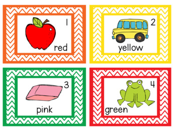 Write the Room Color Words